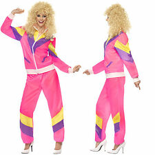 Smiffy's Womens Shell Suit Costume New Ladies 80's Height Of Fashion Fancy Dress