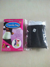 Trendy Top Tees As Seen on TV 2 Layering Accessory Black White