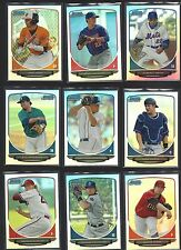 2013 BOWMAN CHROME - ROOKIE DRAFT PICKS REFRACTORS - WHO DO YOU NEED!!! #1-44