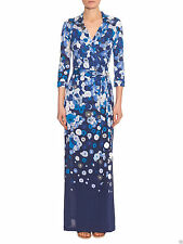 Diane von Furstenberg ABIGAIL Wrap Silk MAXI Dress in FLOATING FLOWER PLACEMENT
