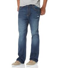 AEROPOSTALE MENS JEANS SLIM BOOT CUT MEDIUM WASH DESTROYED PANTS STYLE 4695
