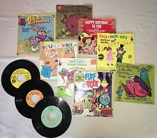 11 Children's 45 RPM Records,Wonderland Records, Peter Pan Records