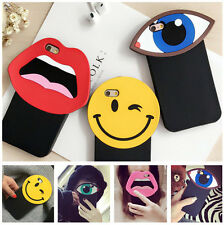 Fashion Cool 3D Lips Big Eye Fun Cute Soft Silicone Case For iPhone 5G 6/6S Plus