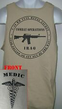 ARMY MEDIC TANK TOP/ IRAQ COMBAT OPS/  MILITARY TAN / ARMY / NEW