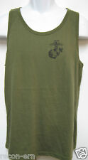 USMC TANK TOP/ SILK SCREEN PRINTED ON FRONT/ OD GREEN/ MILITARY/  NEW