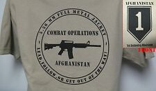 1ST INFANTRY DIVISION AFGHANISTAN OPERATION T-SHIRT/ Afghanistan front logo/ NEW