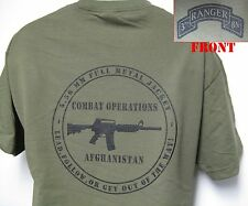 3rd RANGER BN T-SHIRT/ MILITARY/ AFGHANISTAN COMBAT OPS/ ARMY/ NEW