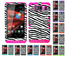 KoolKase Hybrid Cover Case for Motorola Droid Razr Maxx HD XT926m - ZEBRA WHITE