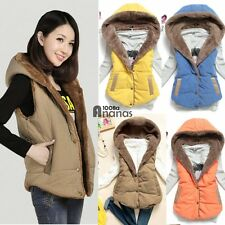 Korean Women's Fashion Solid Color Hoodie Casual Tops Sleeveless Vest AN18