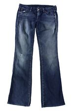 7 For All Mankind Blue Womens US Size 28x33 Flare Stonewash Jeans $169- 696 DEAL