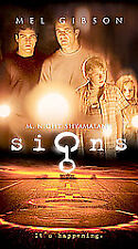 Signs (VHS, 2003) Mel Gibson Movie Science Fiction