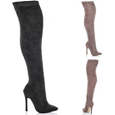 Womens Pointed Toe High Heel Stiletto Thigh Boots Sz 5-10