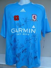 MIDDLESBROUGH FC 2009/10 SIGNED AWAY - POPPY SHIRT - SIGNED BY 22 OF THE1st TEAM