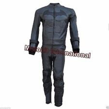 Motokit Men's Motorbike Leather Arkham Batman Racing Suit Jacket & Pant CE Armor
