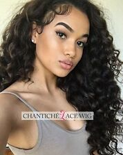 6A Human Hair Curly Wig Indian Remy Hair Lace Front/Full Wigs African Americans