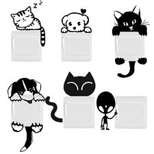 DIY Funny Cute Cat Dog Switch Stickers Wall Home Decoration Bedroom Parlor Vinyl