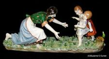 Ackermann Fritze Volkstedt Dresden Mother & Children Figurine