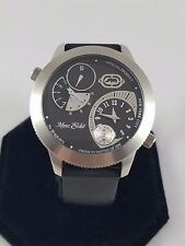 Men's Marc Ecko Two Timer Classy Black Watch # E11510G1 New Batteries
