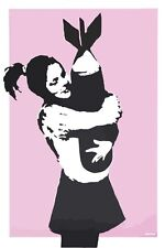 Stretched Bomb Hugger Canvas Print By Banksy Graffiti Street Art *Assorted*