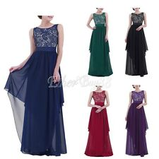 Women Formal Dress Evening Prom Gown Party Bridesmaid Maxi Lace Dress Plus Size