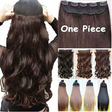 Real Thick 5clips Clip in 3/4 Full Head Hair Extensions Extension as human hair