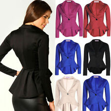 1x Stylish Women One Button Slim Casual Business Blazer Suit Jacket Coat Outwear