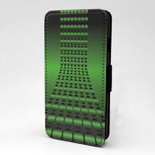 Green Dots Print Design PatternFlip Case Cover For Apple iPhone - P128