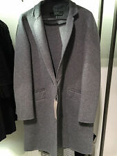 ZARA WOOL MIDI COAT GREY MARL XS-XL REF. 5854/221