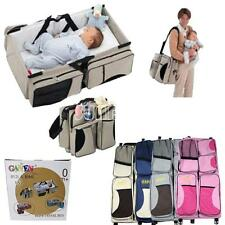 SUNDELY 2 in 1 Crib Baby Portable Diaper Bassinet Nappy Bag Changing Fold Travel