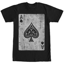 Lost Gods Distressed Ace of Spades Mens Graphic T Shirt