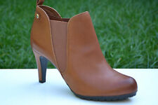 Clarks Ladies Ankle Chelsea Boots Kemble Biscuit Tan Leather