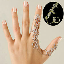 Women Jewelry Multiple Finger Stack Knuckle Band Crystal Finger Rings Set