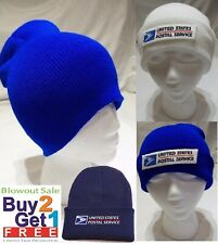 USPS Postal Unisex Beanie Knit Ski Cap Hip-Hop Color Winter Warm Wool Hat Tam