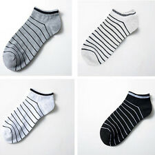 1 pair Cotton blends Sports Short Striped Boat Socks Mens Ankle Hosiery 4 Colors