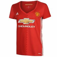 Adidas Manchester United FC Home Jersey 2016 2017 Womens Red Football Soccer Top