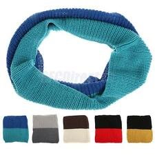 Womens Knit Circle Neck Warmer Wraps Loop Scarf Mens Winter Scarves