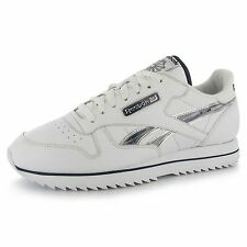 Reebok Classic Leather Etched Ripple III Mens Shoes Trainers Wt/Blu Sneakers