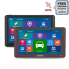 XGODY 7''8GB SAT NAV AV-IN Bluetooth 256MB RAM Car Truck GPS Navigation FM IG