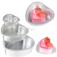 Removable Heart Cake Pan Tin DIY Cake Mold Biscuit Cookie Cutter Bakeware Tools