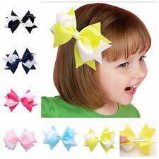 New 1x Cute Bow Butterfly Hair Clip Contrast Color Hairpin For Girls