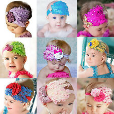 Casual Cute Baby Girl Kids Infant Toddler Feather Headband Hair Band Hair Flower
