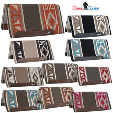 CLASSIC EQUINE ESP WOOL TOP LEATHER HORSE SADDLE PAD 32X34 / 34X38 - ALL COLOR