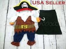 New Pirate Jumpsuite Halloween Dog Costume Apparel Pet Puppy Clothes Outfit
