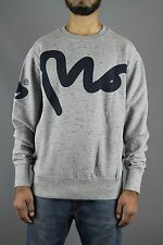 Money Clothing Big Signature Crew Neck Mens Sweatshirt Light Grey Slub 2E110024