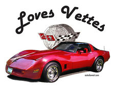 AUTO ART T-SHIRT Loves Corvettes