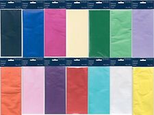 Tissue Paper Large Sheets 750mm x 500mm 14 colours. 5 Sheets Per Pack Gifts