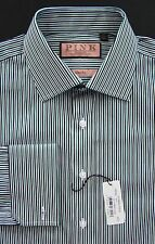 Thomas Pink NWT White Maikel Stripe Slim Fit French Cuff Dress Shirt