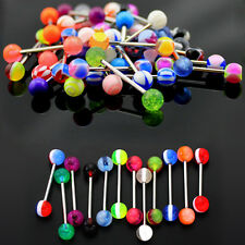 10/30/50 Mixed Tongue Tounge Nipple Ear Ring Barbell Body Piercing Jewelry BBCA
