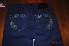 Miss Me Girls Skinny Jeans NWT Sparkle detail on back pockets Size 12 and 14
