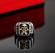 Man's Special 316L Stainless Steel Ring Biker Ring Skull Tattoo Copper fashion